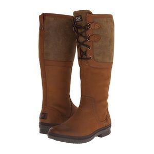 UGG Elsa Waterproof Boots Chestnut Size 8